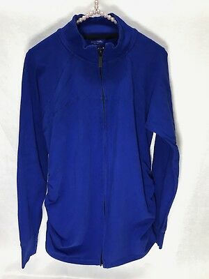 Motherhood Maternity Womens Large Long Sleeve Full Zip Athletic Jacket Stretch