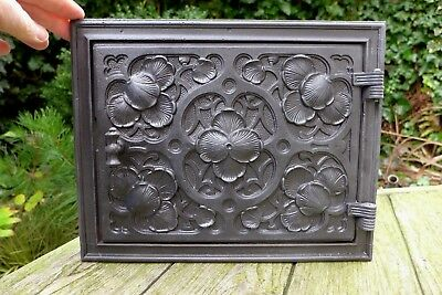 Vintage decorative cast iron fire door clay/bread oven door/pizza smoke house 4
