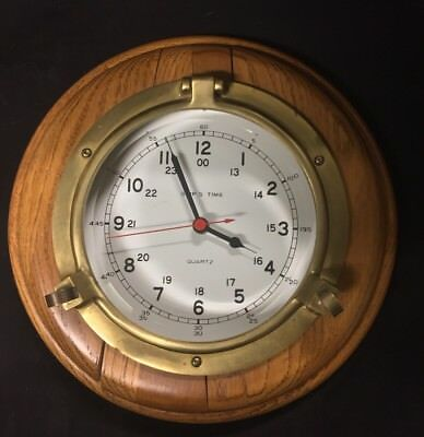 Maritime Brass Porthole Ship Clock