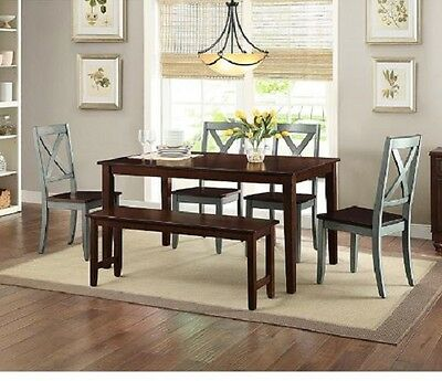 Terrific Farmhouse Dining Table Set 6 Piece Rustic Country Kitchen Pabps2019 Chair Design Images Pabps2019Com