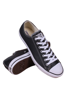 856376b1f557 132174C MEN CHUCK Taylor All Star Low Core Converse Black Leather ...