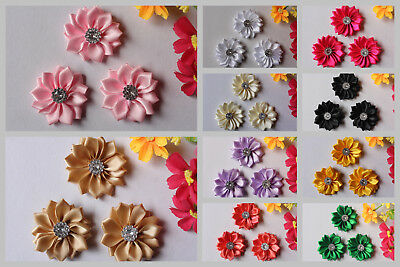 3x Handmade Daisy Flowers for DIY Headbands Hair Clips Craft Embellishments