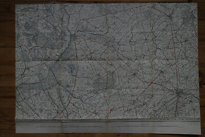 Carte topographique Belgique 1/40.000 - 1895 - n°20 Roulers / Roeselare