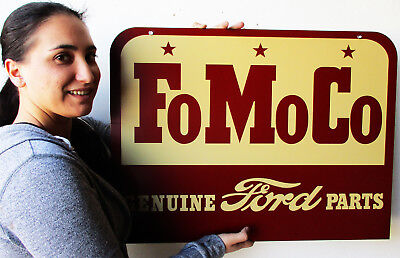 "FoMoCo Genuine Ford Parts 30"" Metal Sign"