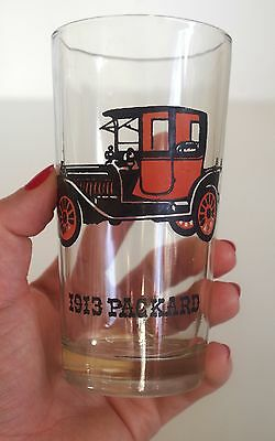 1913 Packard Drinking Glass Model 38 Automobile Collectible Decor Dining Car Cup