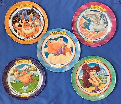 Vintage 1997 Disney Hercules McDonalds Plates Set Of Five