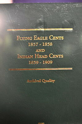 Flying Eagle Cents 1857-1858 & Indian Head Cents Book Lot Of 3  New