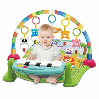20 Melodies Baby Kid Gym Playmat Musical Piano Lay And Play Activity Gym Mat