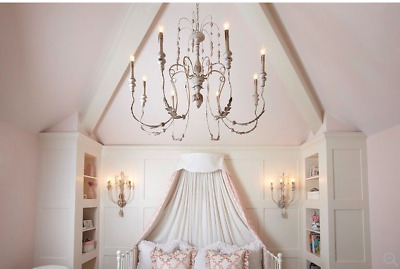 NEW XL Iron French Victorian Farmhouse Chandelier Chateau Dining Foyer Bedroom