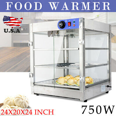 Commercial 20 x 20 x 24 Countertop Food Pizza Pastry Warmer Wide Display Case