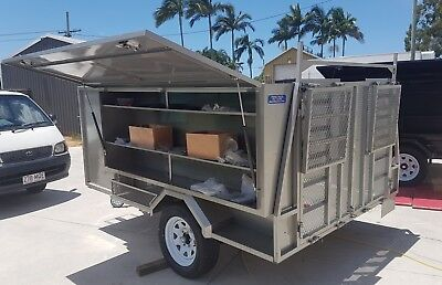 Lawn Mowing Trailer - GREY - 2018 Model 10 x 6'6 - Ramps & Toolbox