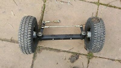 kr8000 komfi rider front end complete , steering wheels tot project go cart soap
