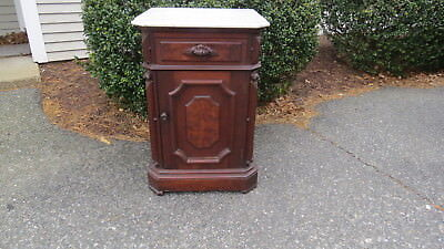 Antique  Victorian walnut  Half Commode  Marble top Top quality