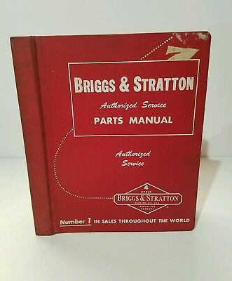 Briggs and Stratton 4 cycle gasoline engines parts manual