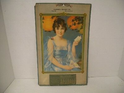 """1921 Adv. """"CAMPBELL Grocery Co."""" Calendar, Johnstown, Pa.,  Sunshine Biscuit"""