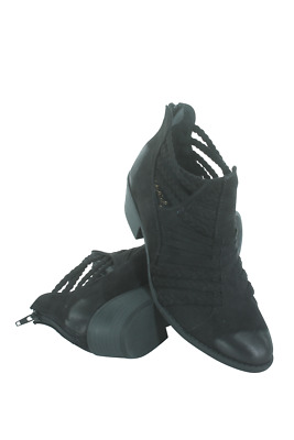 Sochi-87-05 Women Braided Strap Bootie Qupid Black Oil