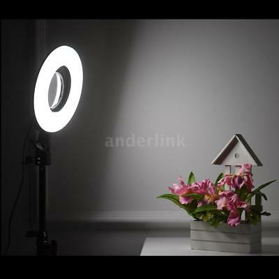 """8"""" LED Photography Ring Light Dimmable 5500K +Mikeup Mirror for Photo Video C4M9"""
