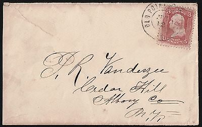 USA 1800's Postal History From Old Point To Albany NY  Cover VF