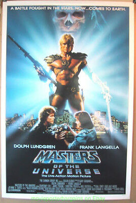 MASTERS OF THE UNIVERSE MOVIE POSTER 27x41 Original 1987 OneSheet DOLPH LUNDGREN