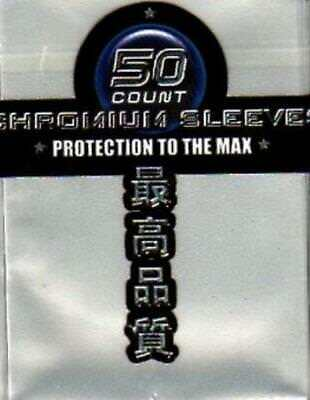 Max Protection Card Protection Neo Sleeves - Chromium Silver (50) MINT