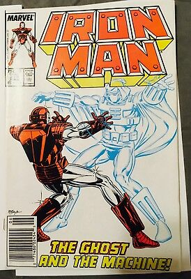 Iron Man No. 219 (Jun 1987, Marvel) NM First Appearance THE GHOST! A must have1