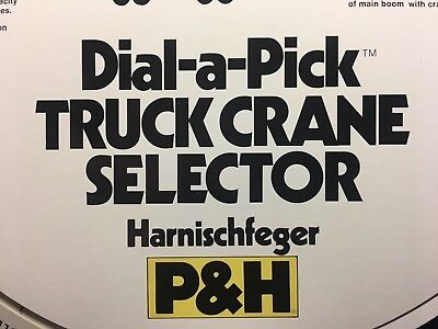 Unusual P&h Harnischfeger Dial-A-Pick Cable Type Truck Crane Selector