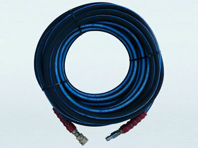 "4350psi Heavy Duty Wired Braided Pressure Washer Hose - 30m, 3/8"" Quick Connect"