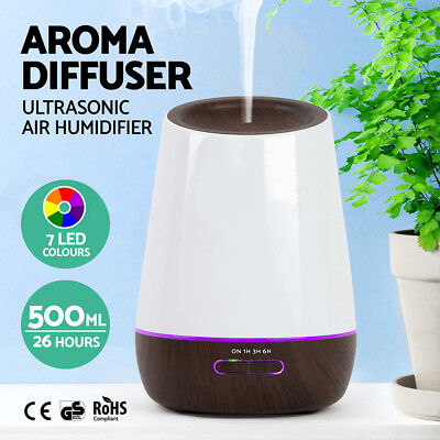 New 400ml Aromatherapy Essential Oil Ultrasonic Aroma Humidifier Diffuser Light