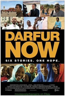 DARFUR NOW MOVIE POSTER Original DS 27x40 Rolled 2007 DOCUMENTARY DON CHEADLE