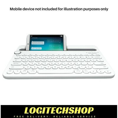 Logitech K480 Bluetooth Multi-Device Keyboard - White (Free postage)