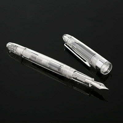 2017 SKB Penton F19 Transparent Fountain Pen China Screw Fine F Nib 0.5mm Gift#J