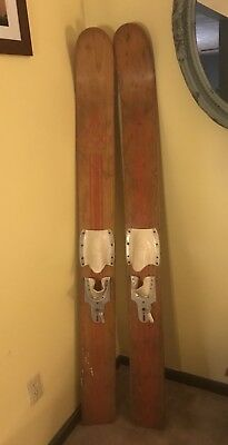 Hydro Flite Vintage Antique Wooden Water Skis Olympic Line 69