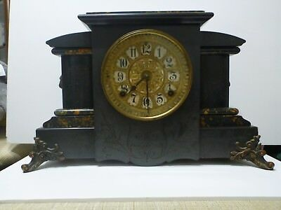 Antique Seth Thomas Adamantine Mantle Clock c1900
