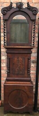 STUNNING Antique Arched Dial Mahogany Grandfather Longcase Clock Case