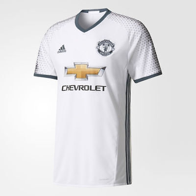 adidas Manchester United Third Away White Premium Matchday Short Sleeved Jersey