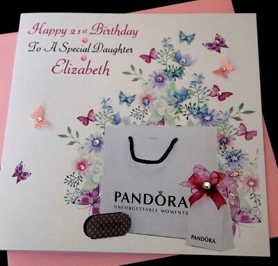 Handmade Personalised Birthday Card Daughter Niece Granddaughter 21st 30th 40t