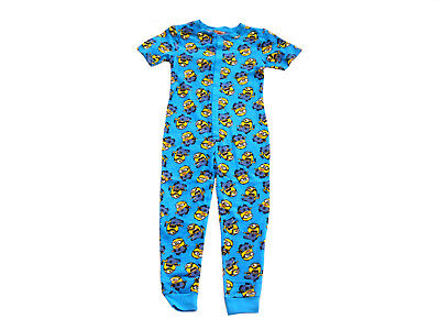 Boys Jump Suit Pyjamas Despicable Me Minions 2-14 Years Short Sleeved