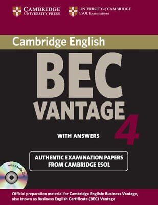 Cambridge BEC Vantage 4 with Answers: Examination Papers f... | Buch | gebraucht
