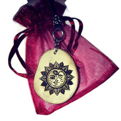 Sun Necklace Necklace Wooden Charm Vintage style Pendant Handmade Pendant Charms
