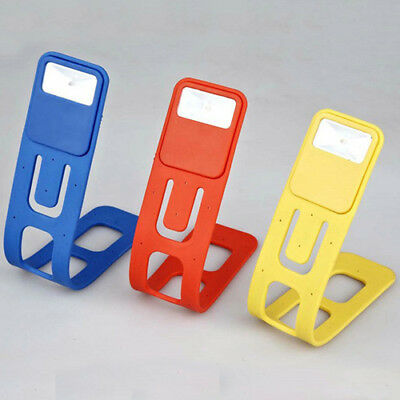 Yellow LED Book reading Lamp Travel Light Flexible Torch Bright Night Portable