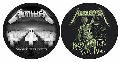 Metallica 'Master Of Puppets / And Justice For All' Turntable Slipmate Set - NEW