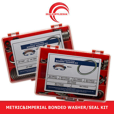 Metric&Imperial Bonded Washer/Seal Kit Self Centering - [SET OF 2]