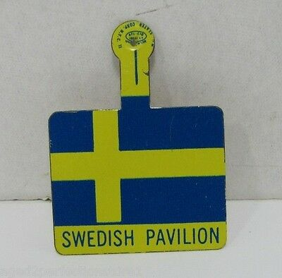 Orig 1964-65 New York World's Fair SWEDISH PAVILION Pin bend tab NYWF Souvenir