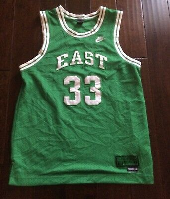 73f65bb954c Vintage Nike Supreme Court East Basketball Celtics Larry Bird Jersey Men LG