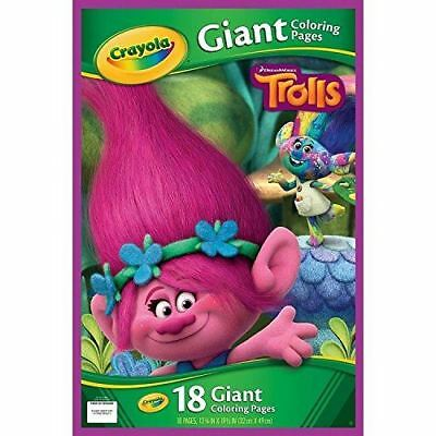 Crayola Trolls Childrens Giant 18 Page Colouring Book 32 x 49cm