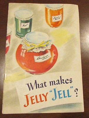 1945 What Makes Jelly Jell? Sure Jell Certo General Foods REcipe Booklet