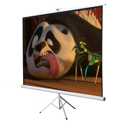 """Office Home 100"""" Tripod Portable Projection Screen Square Projector Stand 70x70"""