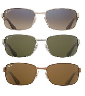 Ray Ban RB3478 Polarized Original Gunmetal Rectangle Sunglasses Choice of Color