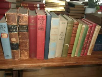 Lot of 16 Collectible Vintage Old Rare Hard To Find Books Unsorted Antique