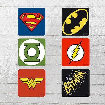 Logoshirt Untersetzer Set DC Comics Mix Coaster Justice League multi 6er Pack